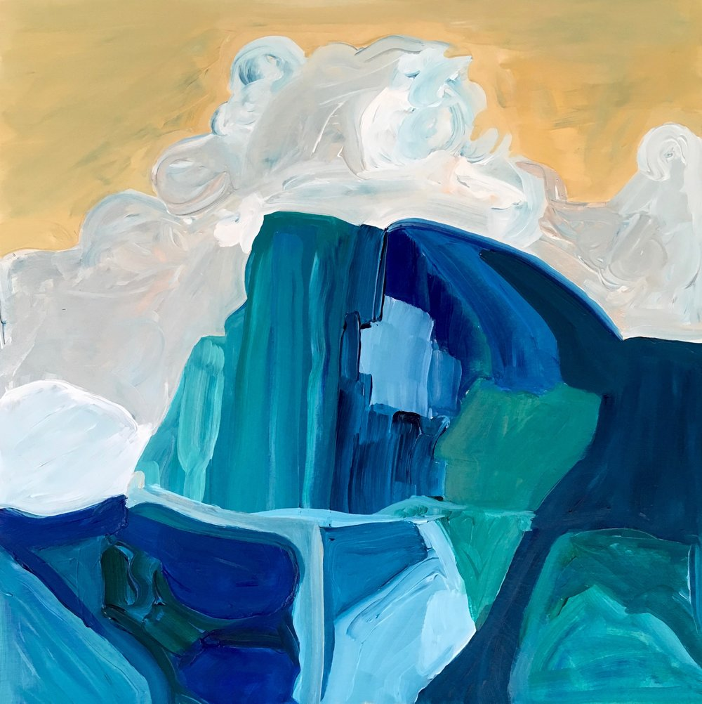 Rendering of Ansel Adams: Half Dome, Thunder Cloud, Yosemite Valley