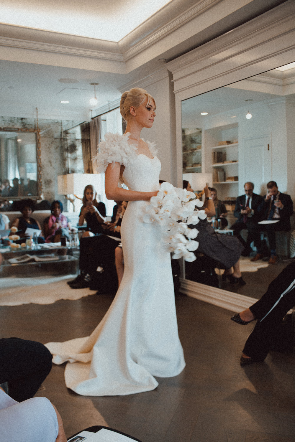 romona keveza bridal fashion week new york city