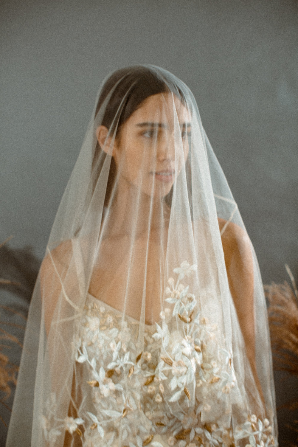 hermione de paula wedding gown for style me pretty at new york bridal fashion week