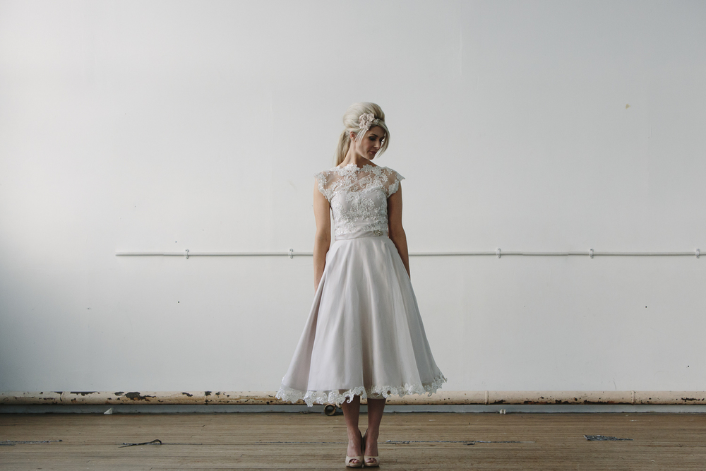 Designer wedding dress - Flossy and Dossy tea dress