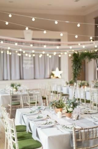 white wedding styling