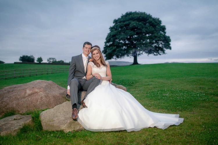Joanna Rowsell and Daniel Shand Heaton House Farm Wedding happy couple.jpg