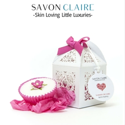 Savon Claire  - Unique, handmade wedding favours. Handcrafted gently cleansing, beautifully scented and vibrant glycerine soap bars, fabulous skin loving whipped shea body butters, mineral soaks, bath bombs, super gentle Shower Gels and much more. Give your guests something they'll love on your wedding day.