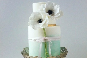 Handmade ombre wedding cake