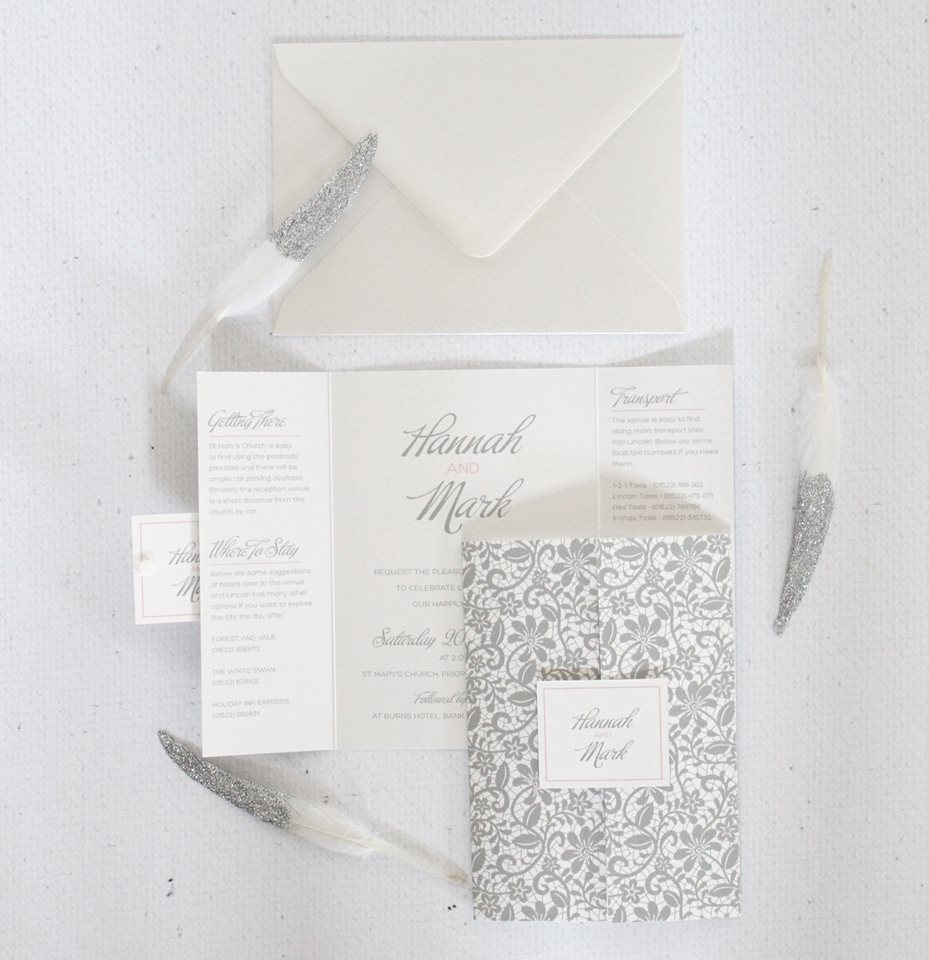 Silver wedding stationery LoveLi
