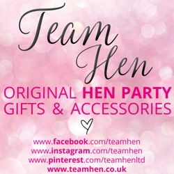 Team Hen  - Gold & Glitzy, or Pink & Girly, we cater for all tastes and budgets; whether you're looking for a Personal Present for the Bride-to-Be, or Gorgeous Gifts for the Hens. We hope to offer those Brides who don't want flashing badges or glittery sashes, but still want to stand out from the crowd and be identified as a Hen group, something a little more subtle.