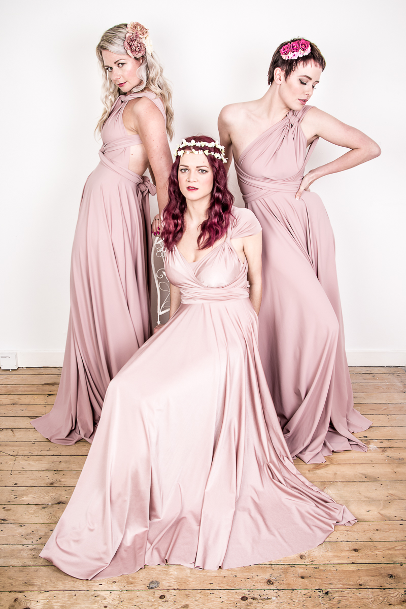 "Bridesmaid Dresses - The Bridal Emporium  Win 3 x multi way bridesmaids dresses Chose from 42 different colours, in matte or shiny material and short or long. Dresses come in a standard size XS to XXL, we can advise what size to order. The dresses come in a standard length, long 49"", short 27"". If you would like the hem altering this is an additional cost of £15 per garment. Approx value. 3 x short £480 3 x long £540"