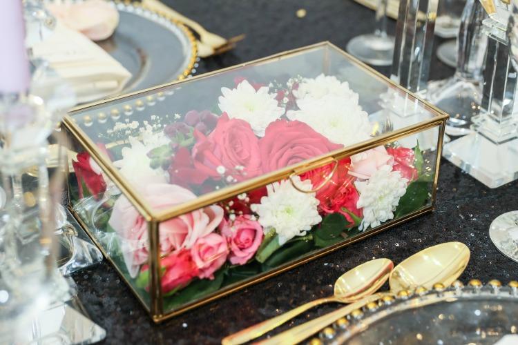 Gold wedding pink flowers.jpg