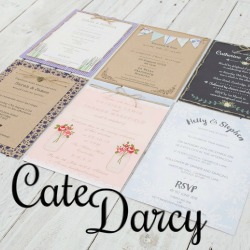 Cate Darcy offers beautiful rustic inspired stationery, with inspiration from bohemian style weddings that are of a more informal nature. All stationery is designed and hand-finished with care and attention to detail.