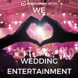 Entertainment Nation is the UK's most trusted wedding entertainment agency. We've helped match countless happy brides and grooms with their perfect wedding entertainment. Choose from hundreds of exceptionally talented professional wedding bands, musicians and performers. We're open every single day (including weekends and bank holidays) from 10am until 10pm to help you in your wedding entertainment search.