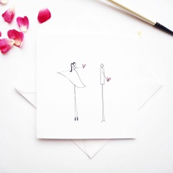 'happy girl' is a hand drawn stationery company specialising in bespoke illustrations for your special occasion.  Every single item is individually illustrated for a truly personal touch - I use black pen as my base and add pops of colour using watercolour meaning the finished item is truly unique and made with love.