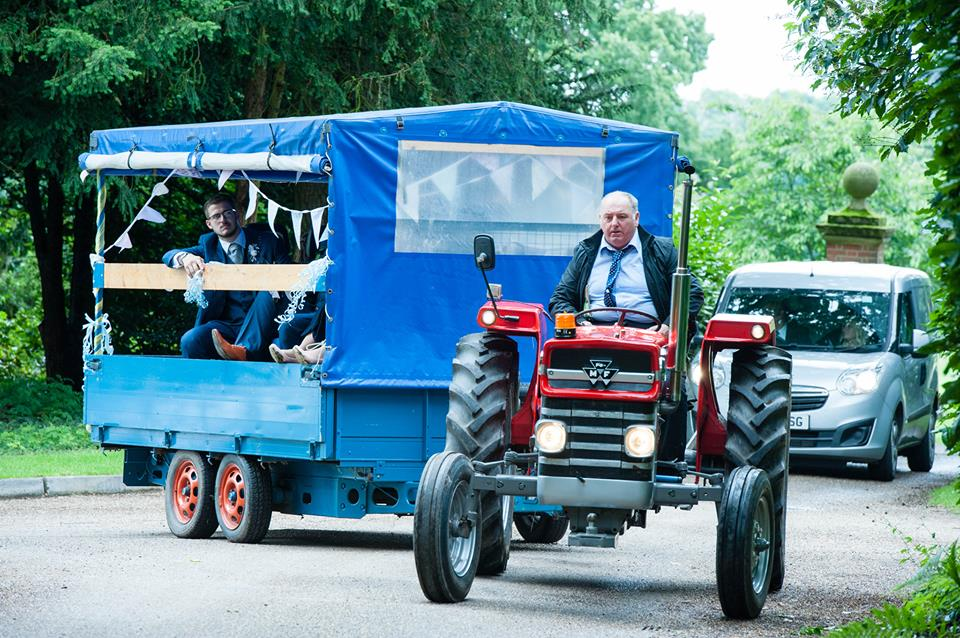 Vintage country wedding tractor.jpg