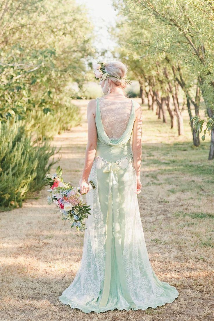 Mint green Claire Pettibone dress | Onelove Photography