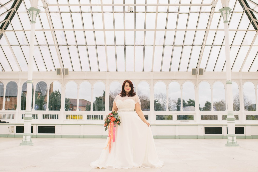 Plus size bride wedding dress conservatory venue.jpg