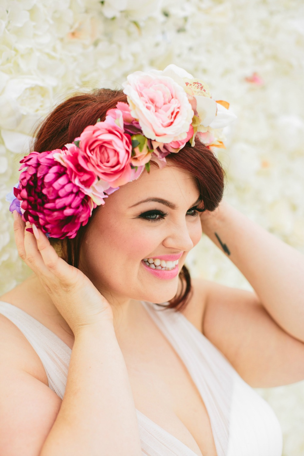 Plus size bride wedding dress flower crown.jpg