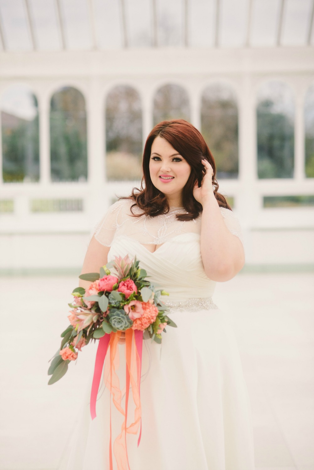 Plus size bride wedding dress peach.jpg