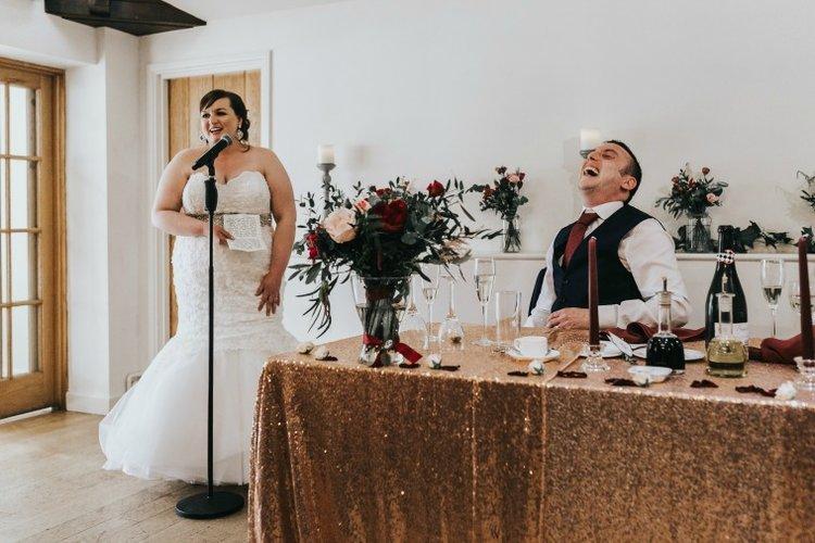 Erin + Stuart - bride doing a wedding speech.jpg