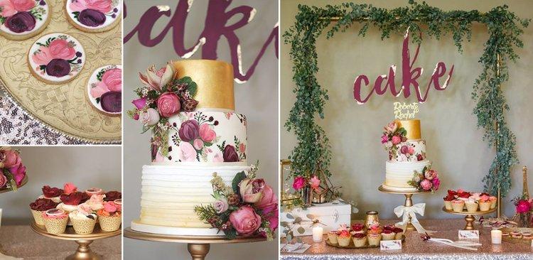wedding cake gold and purple.jpg