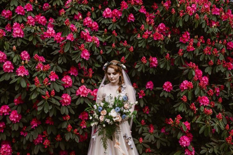 Agnes Black Liverpool wedding photographer bride with flowers.jpg