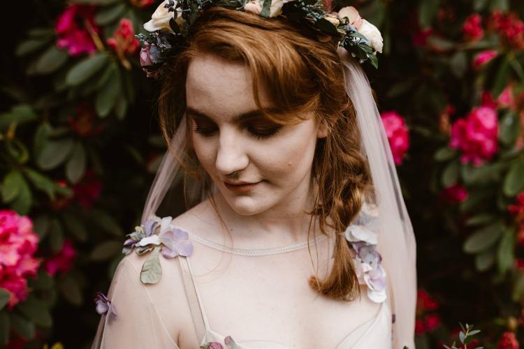 Agnes Black Liverpool wedding photographer flower dress detail.jpg