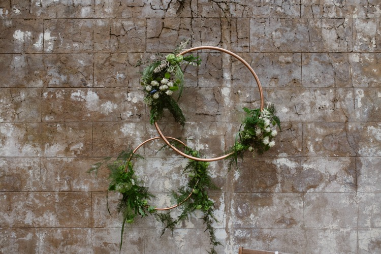 Agnes Black Liverpool wedding photographer wedding decor metal hoops with foliage.jpg