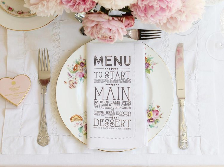 Personalised printed napkins menu.jpg