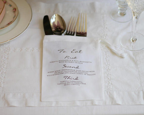 Cute printed wedding menu idea.jpg