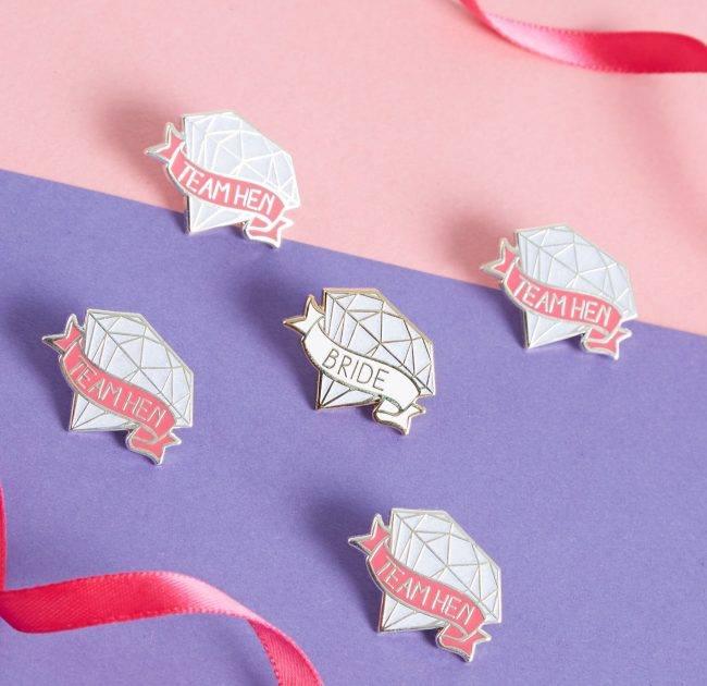 Diamond Hen Badges |  Team Hen
