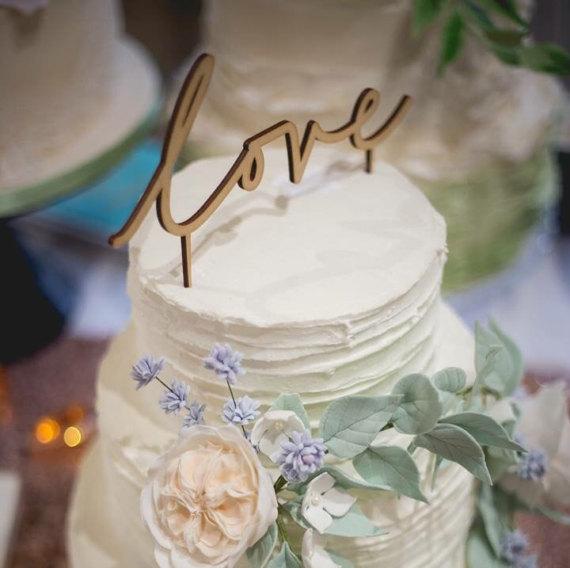 Love Cake Topper |  Suzanne Oddy Design