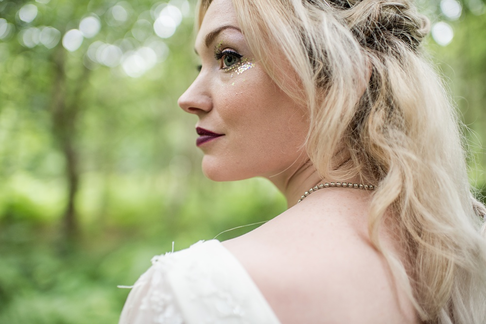 Glitter Boho Bridal look by Amy George Make-Up Artist