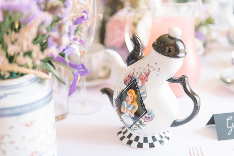 Alice in Wonderland Teapot Wedding Decor.JPG