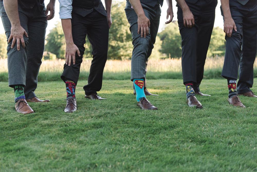Super hero wedding socks.JPG