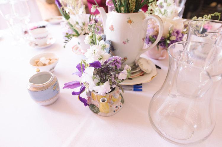 Vintage wedding teapot crockery.JPG