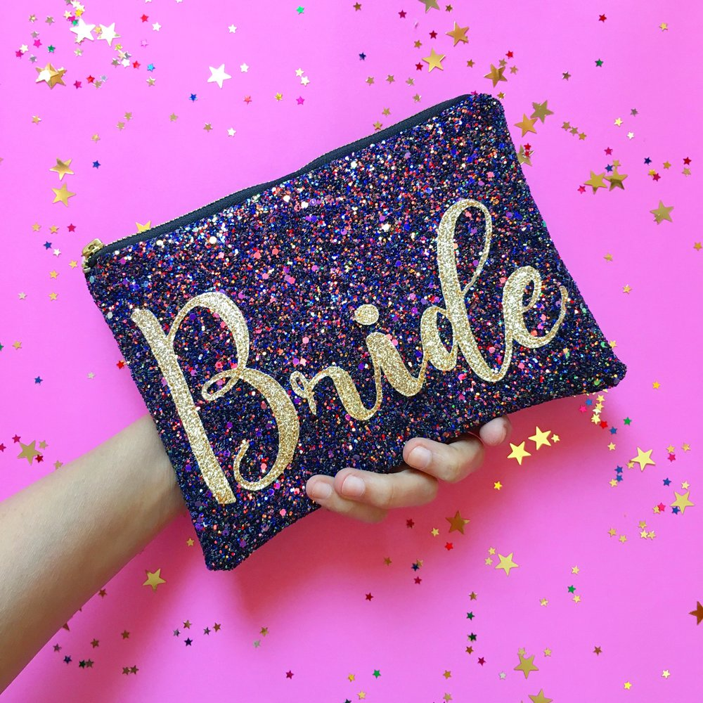 Sparkly Bridal Clutch Bag Threaded
