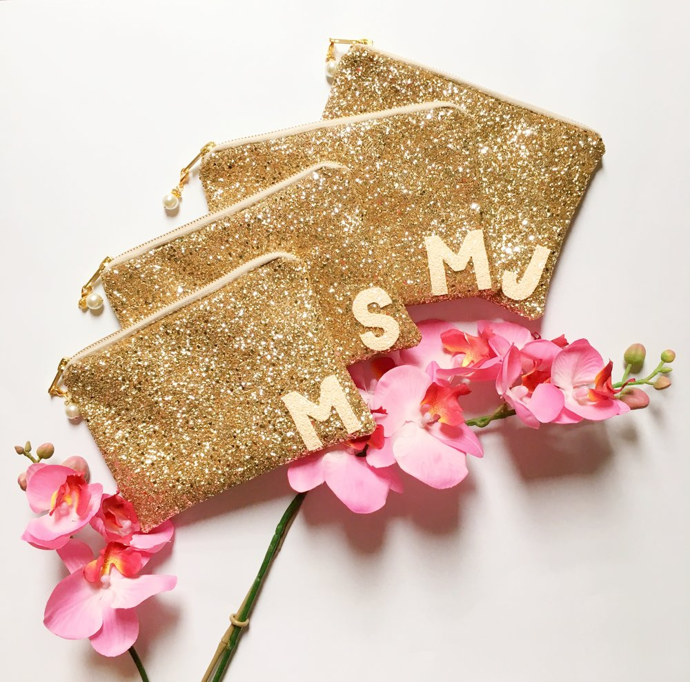 Sparkly Glitter Bridesmaid's Clutch Bags
