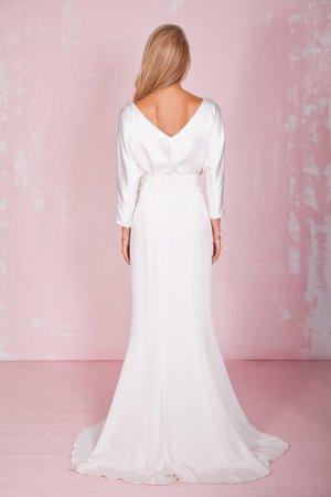 FLossie Top Petal Skirt Belle and Bunty Bridal Separates back.jpg