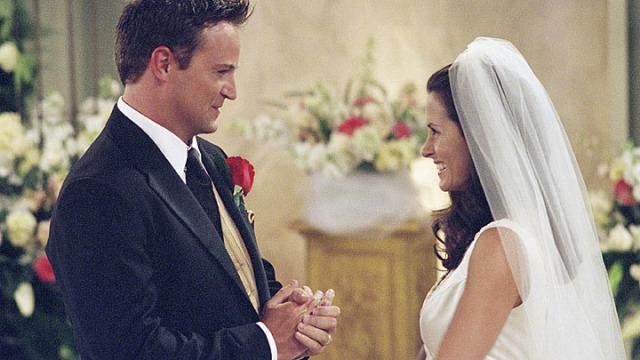Monica Geller and Chandler Bing Friends TV Wedding