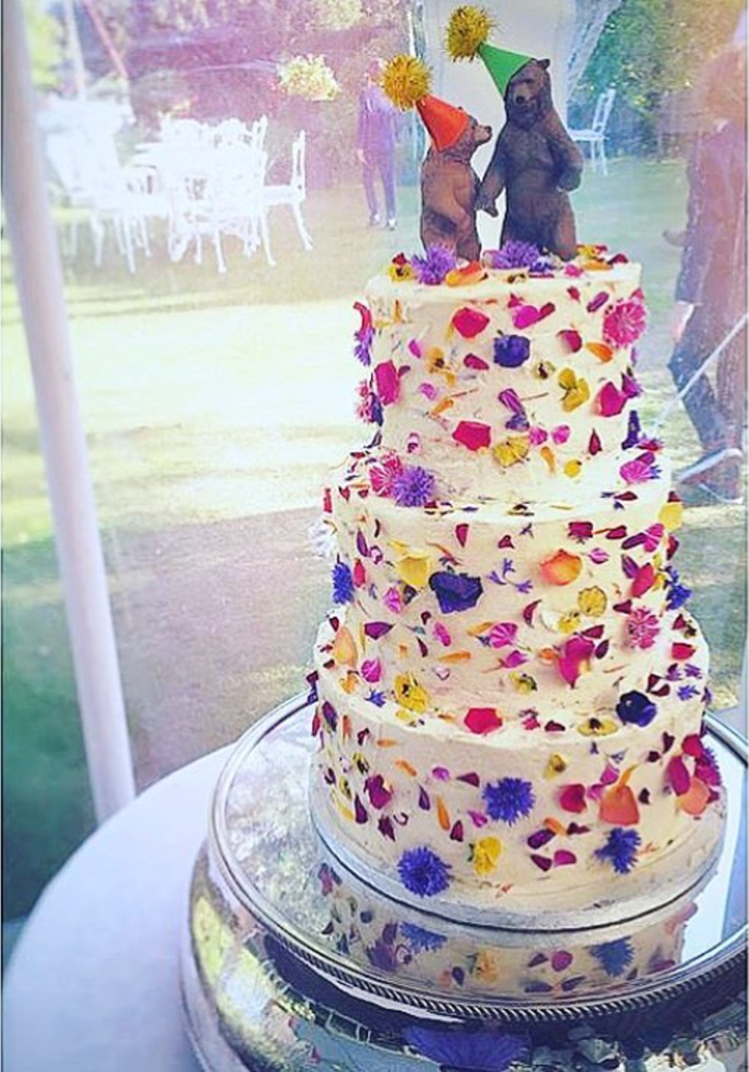 Wildflower Wedding Cake by  Bees Bakery
