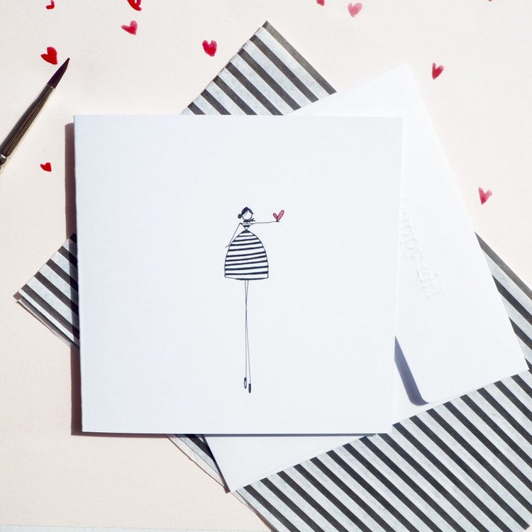 Piece of my heart love illustration card