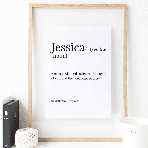 Personalised Name Print | £7.00