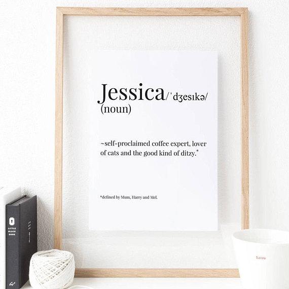 Personalised Name Print  | £7.00