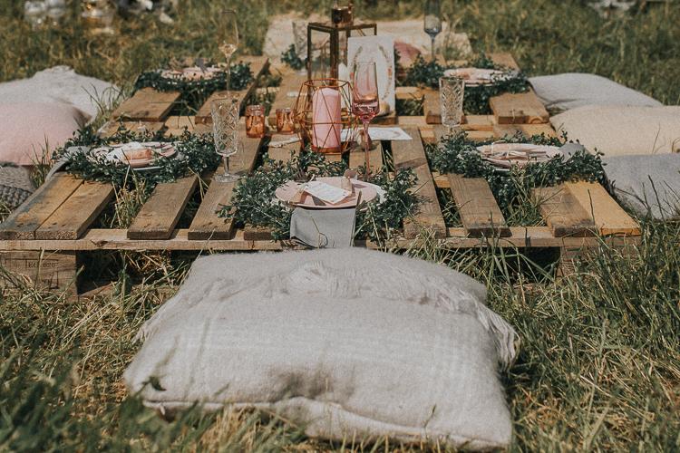 Boho Wedding With Tea Lights