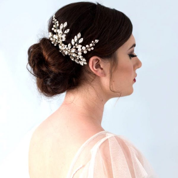 Sofia Crystal & Pearl Hair Comb | Glorious By Heidi | £100.00