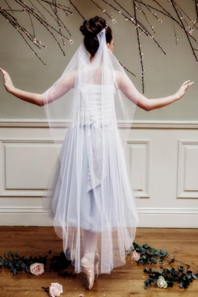 Draped Bridal Veil In Blue Or Pink | Thomasina Brides | £65.00