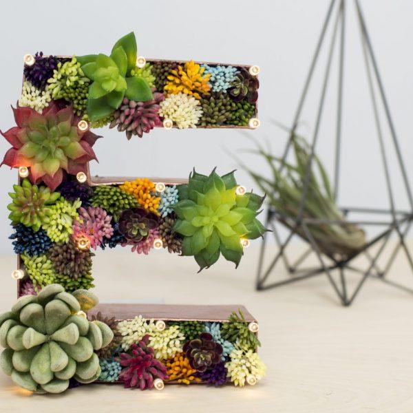 Succulent Light Up Letter | £32.00