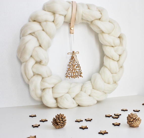 Merino Wool Wreath | £39.95