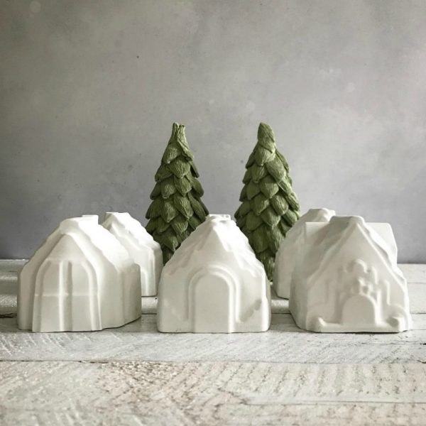 White Mini Concrete House Decoration | £4.99