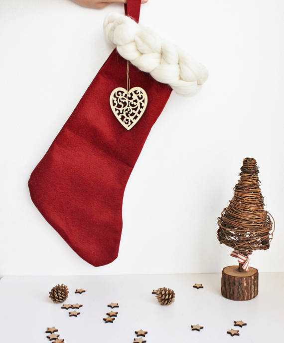 Merino Wool Chunky Knit Stocking | £24.95
