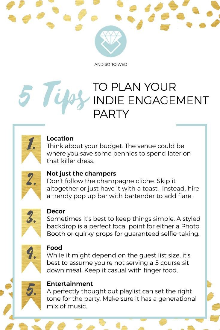 5 Tips To Plan Your Indie Engagements Party