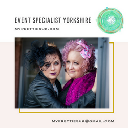 My Pretties UK - alternative and fantasy Wedding and Events in the heart of Yorkshire. We offer truly bespoke and innovative planning and styling expertise to couples wanting something special and that little bit different. Contact us today -  myprettiesuk@gmail.com